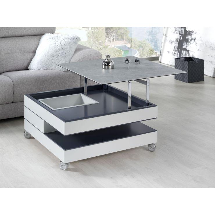 Table basse plateau céramique 744