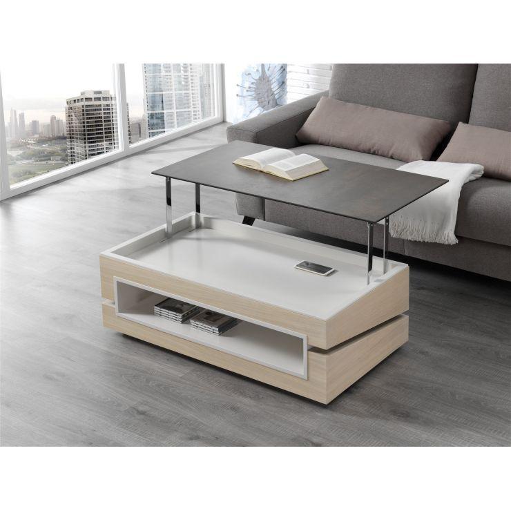 Table basse plateau céramique 746